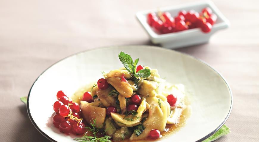 Рецепт Салат из баклажанов на пару с укропом и мятой