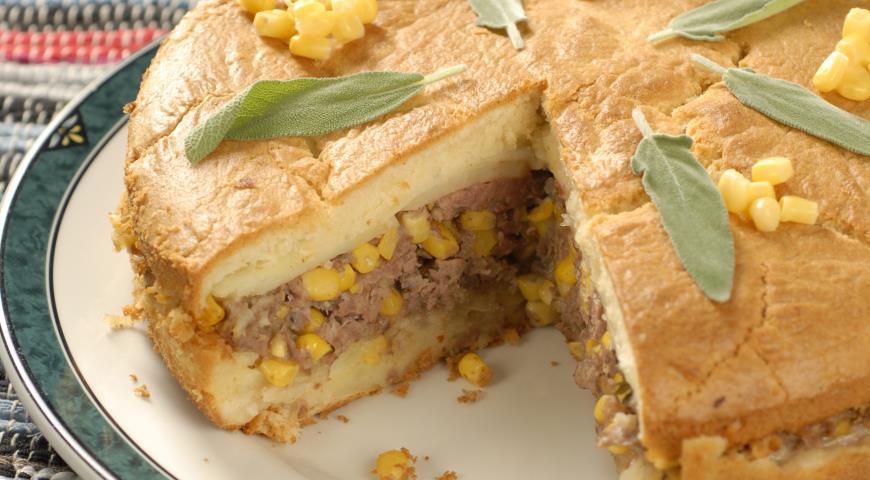 Рецепт Пирог со свининой и картофелем