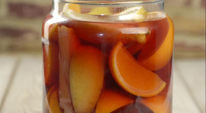 Рецепт Апельсиновое вино с ванилью