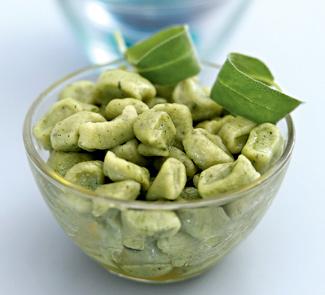Рецепт Зеленые ньокки с шалфейным маслом