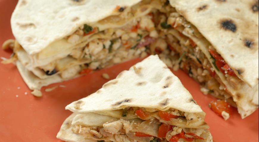 Рецепт Кесадилья с куриным мясом