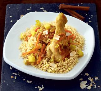 Рецепт Соте из курицы с миндальным кускусом
