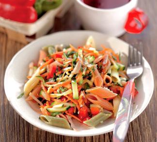 Рецепт Салат из пасты, ветчины и овощей