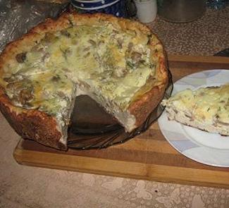 "Рецепт Пицца ""а-ля Кур"" или грибное лукошко"