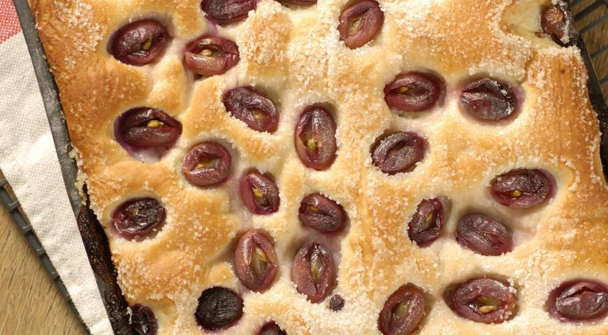 Рецепт Фокачча с виноградом