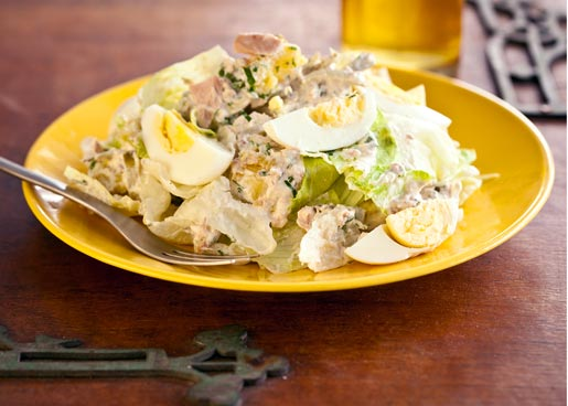 """Теплый картофельный салат """"Изумрудный"""" – кулинарный рецепт"""