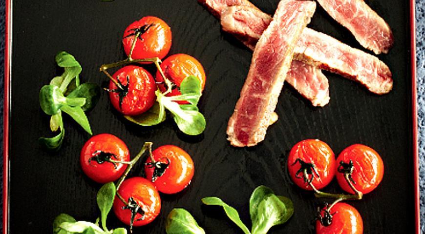 Рецепт Самый простой салат со стейком
