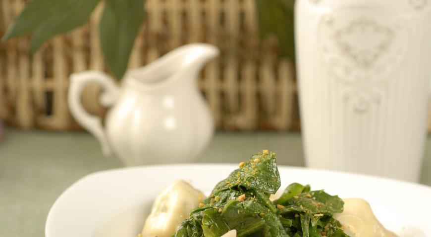 Рецепт Равиоли с творогом и зеленью