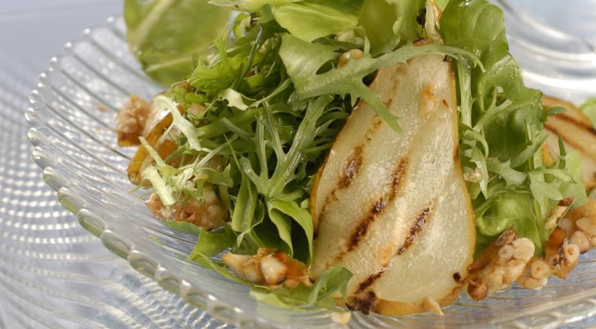 Рецепт Зеленый салат с грушами-гриль