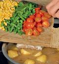 Овощное рагу с куриными бедрышками. Шаг 2
