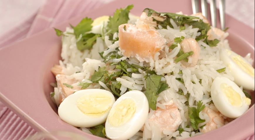 Рецепт Кеджери с лососем
