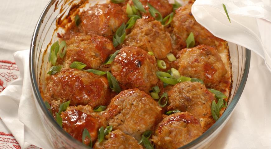 Ежики в томате, пошаговый рецепт с фото