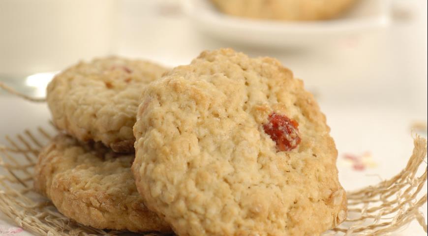 Рецепт Овсяное печенье с клюквой