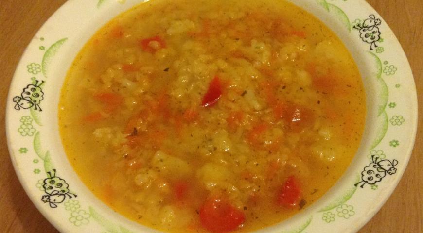 Рецепт Суп овощной с чечевицей