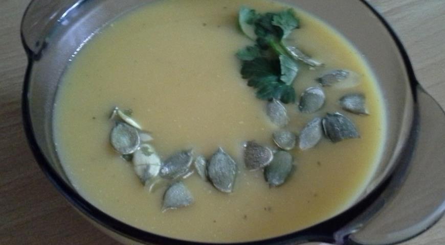 Рецепт Тыквенный суп-пюре с яблоками