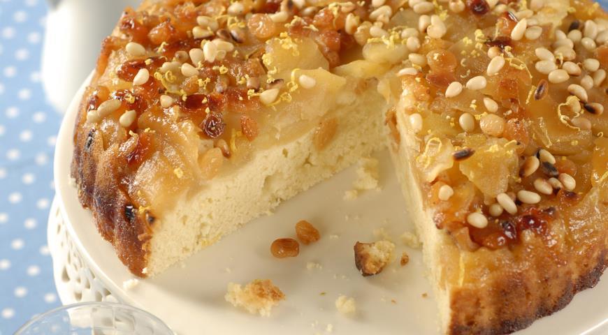 Рецепт Яблочный пудинг с кедровыми орешками