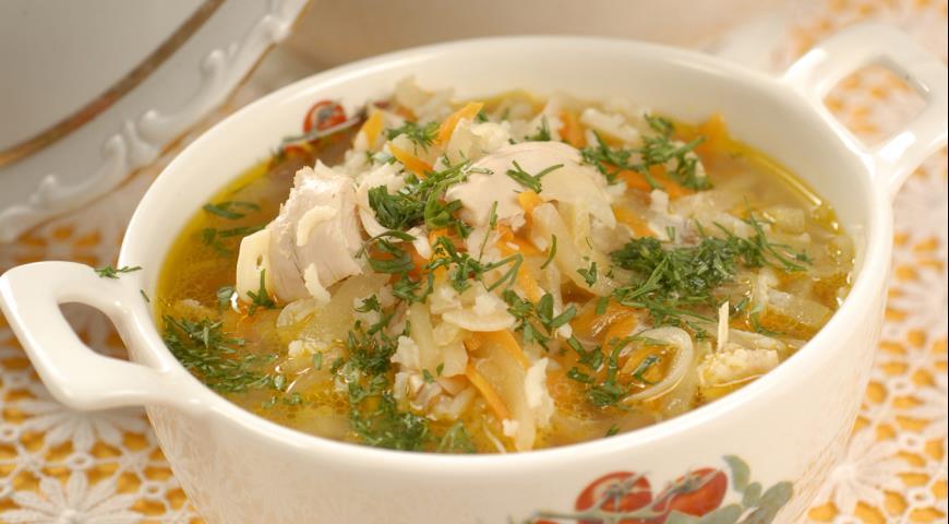 Рецепт Куриный суп с яблоками