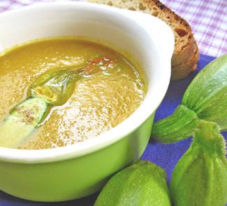 Рецепт Суп из цветов цуккини