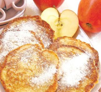 Рецепт Яблочные оладьи с миндалем, корицей и медом