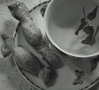 Рецепт Конфетки из слоеного теста с финиками и мятой
