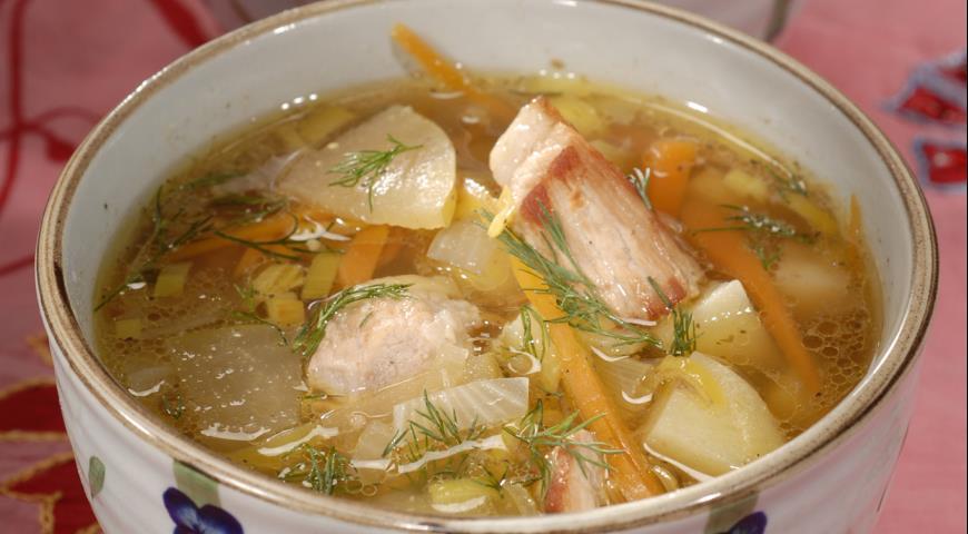Рецепт Суп со свининой и яблоками