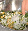 Пирожки с рисом, яйцом и зеленым луком. Шаг 4