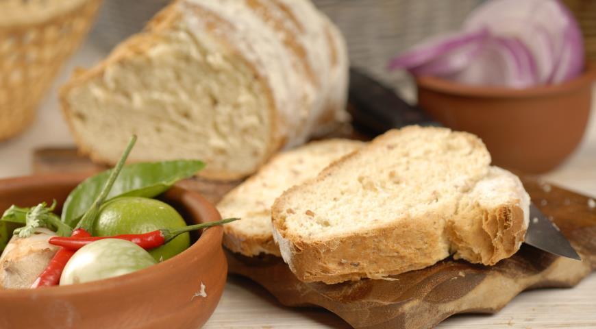 Рецепт Хлеб с ветчиной и сыром