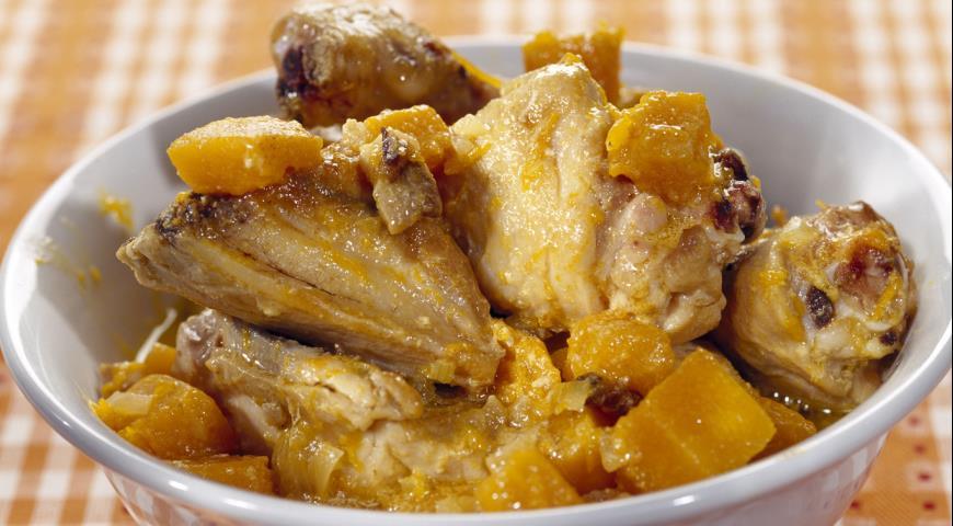 Рецепт Курица с тыквой