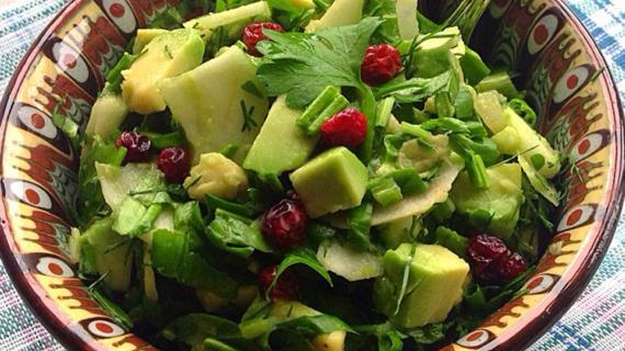 Салат Зелёное настроение, пошаговый рецепт с фото