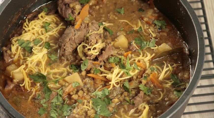 Рецепт Узбекский суп маш угра