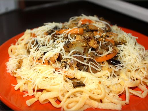 Рецепт Спагетти с баклажанами