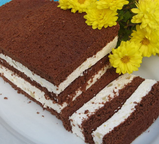 Рецепт Десерт баварезе (баваруа) с грушами