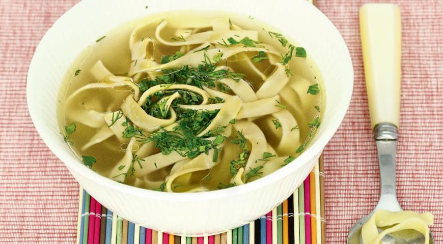 Рецепт Лапша в овощном бульоне