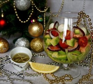 Рецепт Салат с соусом из анчоусов