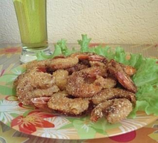 Рецепт Королевские креветки в панировке
