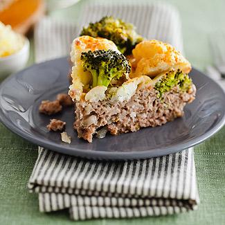 Рецепт Мясная запеканка с брокколи и цветной капустой в мультиварке