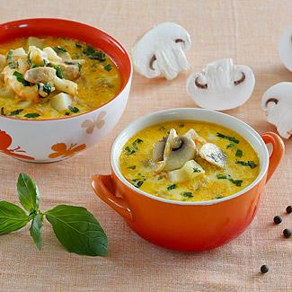 Рецепт Сырный суп с шампиньонами в мультиварке