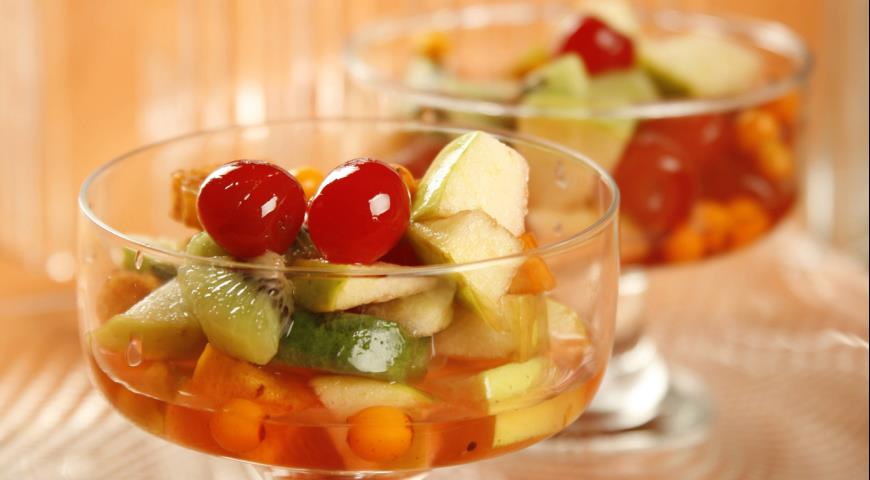 Рецепт Осенние фрукты с сабайоном