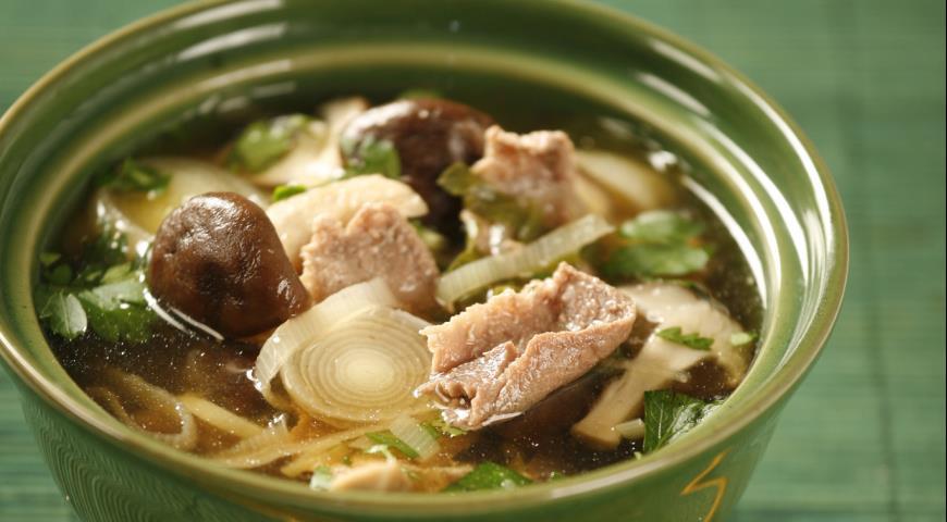 Рецепт Суп мисо с утиной грудкой
