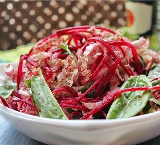 Рецепт Китайская капуста с щавелем и свеклой