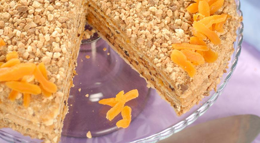 Рецепт Сметанный торт с черносливом