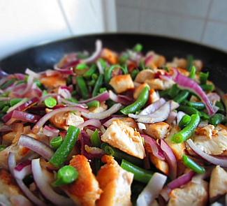 фасоль курица второе блюдо рецепты