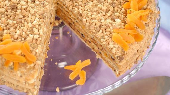 Кабачковый торт с сырной начинкой, пошаговый рецепт с фото
