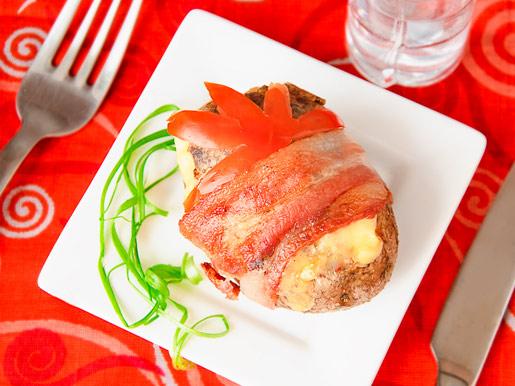 Рецепт Картофель с грибами в беконе