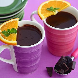 Рецепт Горячий шоколад с апельсиновой цедрой в мультиварке