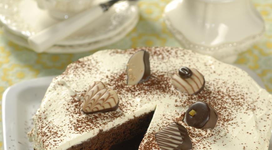 Рецепт Торт из черного шоколада