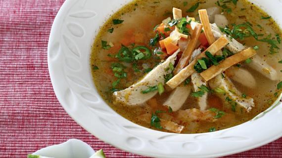 Мексиканский суп с индейкой и тортильей, пошаговый рецепт с фото
