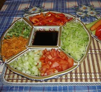 Рецепт Царский салат вегетарианский с соевым соусом