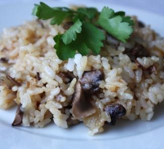 Рецепт Рис с грибами и соевом соусом