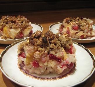 Рецепт Рисовая каша с грушами для праздничного завтрака